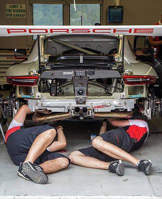 Photograph - Porsche Repair by Alan Raasch