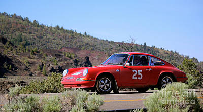 Photograph - Porsche Road Rally Car by Susan Herber