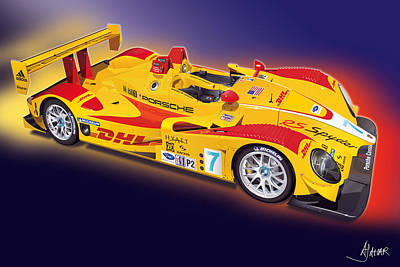Michelin Digital Art - porsche RS Spyder by Alain Jamar
