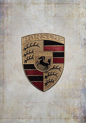 Coat Of Arms Digital Art - Porsche Shield by Daniel Hagerman