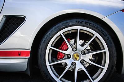 Photograph - Porsche Spyder Boxster Wheel Emblem -0028c by Jill Reger