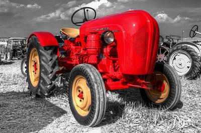 Porsche Tractor Print by Rob Hawkins