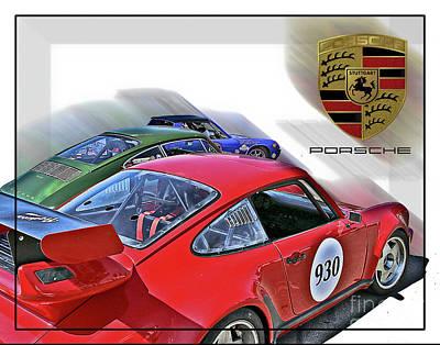 Photograph - Porsche Trio by Tom Griffithe