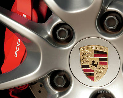Photograph - Porsche Wheel Detail #1 by David Chalker