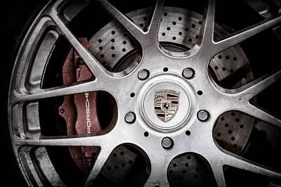 Brakes Photograph - Porsche Wheel Emblem -1323ac by Jill Reger