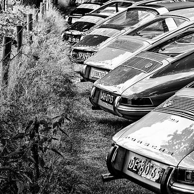 912 Photograph - Porsches 912 Asses Bw by 2bhappy4ever