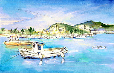 Painting - Port Andratx 01 by Miki De Goodaboom