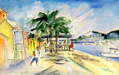 Painting - Port Andratx 02 by Miki De Goodaboom