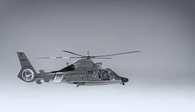Coast Guard Wall Art - Photograph - Port Angeles Coast Guard Helicopter by Paul W Sharpe Aka Wizard of Wonders