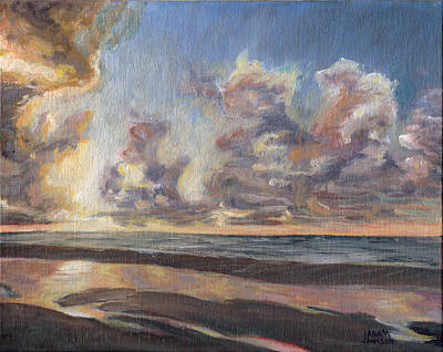 Painting - Port Aransas Sunrise by Adam Johnson