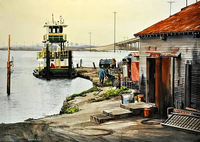 Painting - Port Aransas Ways by Robert W Cook