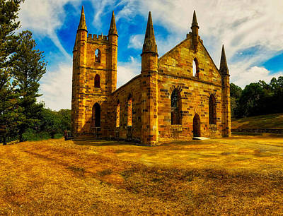 Photograph - Port Arther Church by Richard Gehlbach