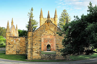 Photograph - Port Arthur Convict Church by Nicholas Blackwell