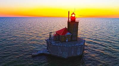 Photograph - Port Austin Reef Lighthouse  by Coulter Stuart