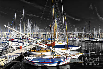Photograph - Port Boats Fusion by John Rizzuto