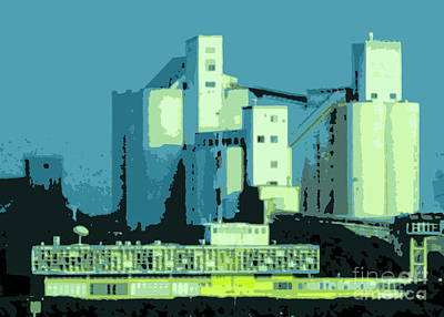 Photograph - Port Buildings by Randall Weidner
