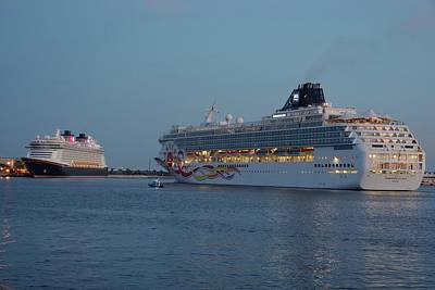 Photograph - Port Canaveral Cruise Ships by Bradford Martin