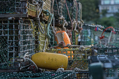 Photograph - Trap Row In Port Clyde by Jesse MacDonald