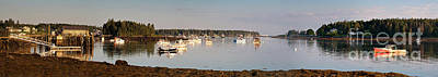 Photograph - Port Clyde Looking South To Marshall Point Light #8546-55 by John Bald