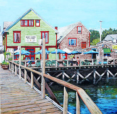 Painting - Port Clyde Maine by Thomas Michael Meddaugh