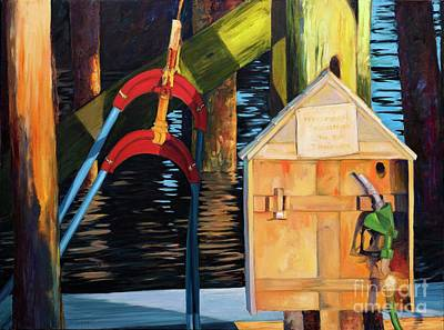 Painting - Port Clyde Refuel by Lynne Schulte