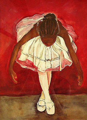 Ballerina Painting - Port De Bras Forward by Amira Najah Whitfield