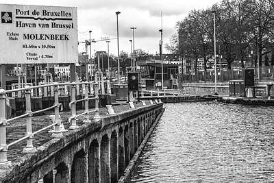 Belguim Wall Art - Photograph - Port De Bruxelles Ecluse Molenbeek by Bouquet  Of arts