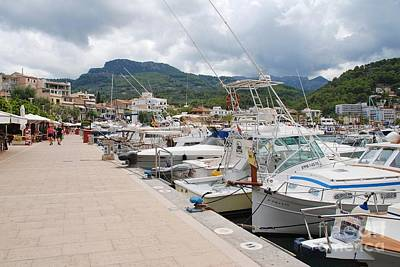 Photograph - Port De Soller Boats In Majorca by David Fowler