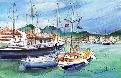 Painting - Port De Soller In Majorca 01 by Miki De Goodaboom