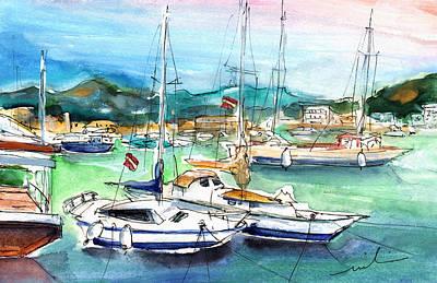 Painting - Port De Soller In Majorca 02 by Miki De Goodaboom