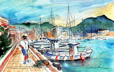 Painting - Port De Soller In Majorca 03 by Miki De Goodaboom