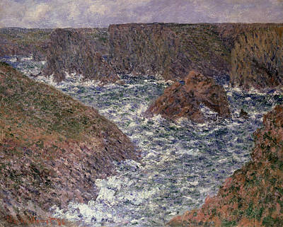 Brittany Painting - Port Domois At Belle Ile by Claude Monet