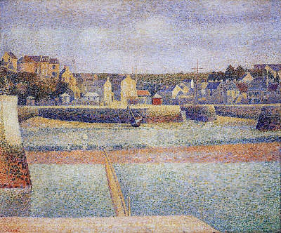 Post Impressionist Painting - Port-en-bessin, The Outer Harbor, Low Tide by Georges Seurat