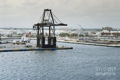 Marina Photograph - Port Everglades Industrial Harbour, Fort Lauderdale, Florida, Usa by Dani Prints and Images