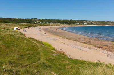 The Gower Photograph - Port Eynon Beach The Gower Peninsula Wales Uk by Michael Charles