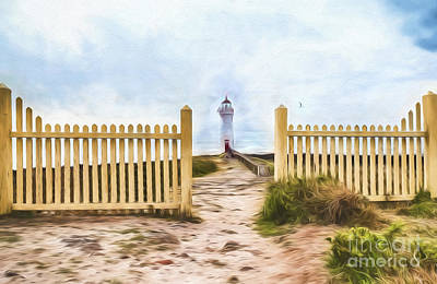 Photograph - Port Fairy Lighthouse    Go2 by Ray Warren