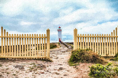 Photograph - Port Fairy Lighthouse  Rvr2 by Ray Warren
