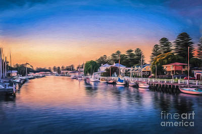 Photograph - Port Fairy Sunset  Go by Ray Warren