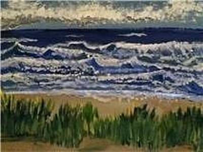 An Incoming Storm Painting - Port Franks Storm by Lisa Stunda