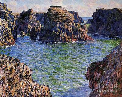 Port Goulphar Belle Ile Brittany Art Print by Claude Monet