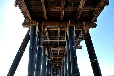 Photograph - Port Hueneme Pier - Looking Up 2 by Matt Harang