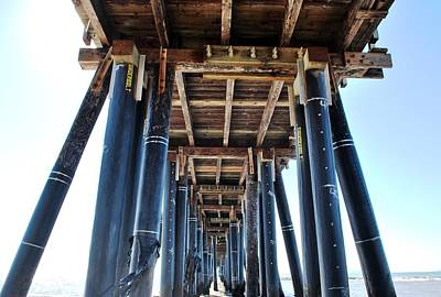 Photograph - Port Hueneme Pier - Looking Up by Matt Harang