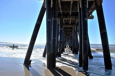 Photograph - Port Hueneme Pier - Surfer 2 by Matt Harang