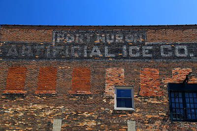Photograph - Port Huron Artificial Ice Co. 2 by Mary Bedy