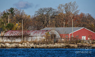 Photograph - Port Huron Barns And Sheds by Grace Grogan