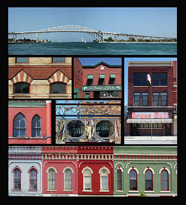 Photograph - Port Huron Collage by Mary Bedy