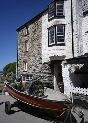 Photograph - Port Isaac Harbour Buildings by Richard Brookes