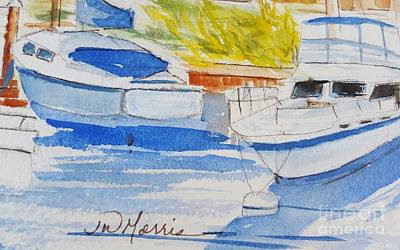 Painting - Port Ludlow Marina by Jill Morris