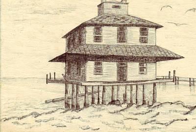 Port Mahon Lighthouse Original by Connie Morrison