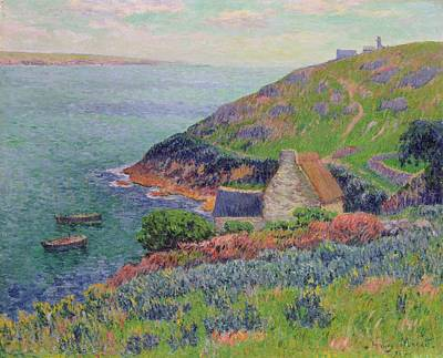 Shoreline Painting - Port Manech by Henry Moret